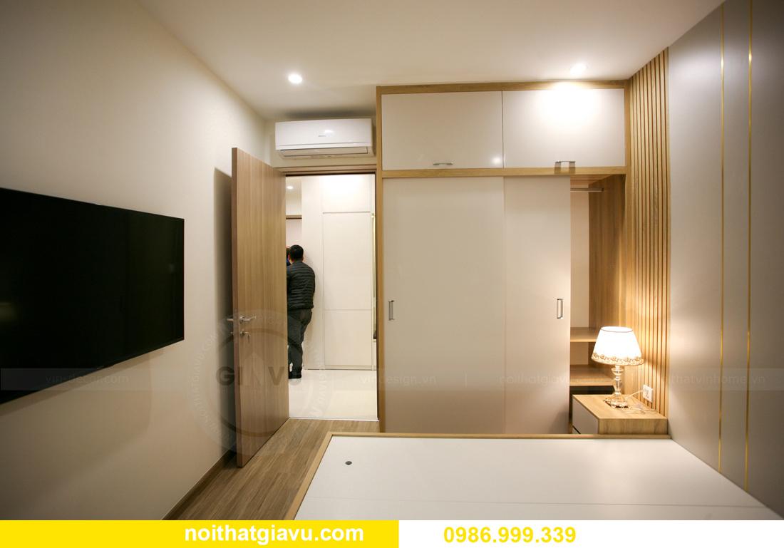 thi công nội thất căn hộ Vinhomes Smart City nhà anh Hòa 14