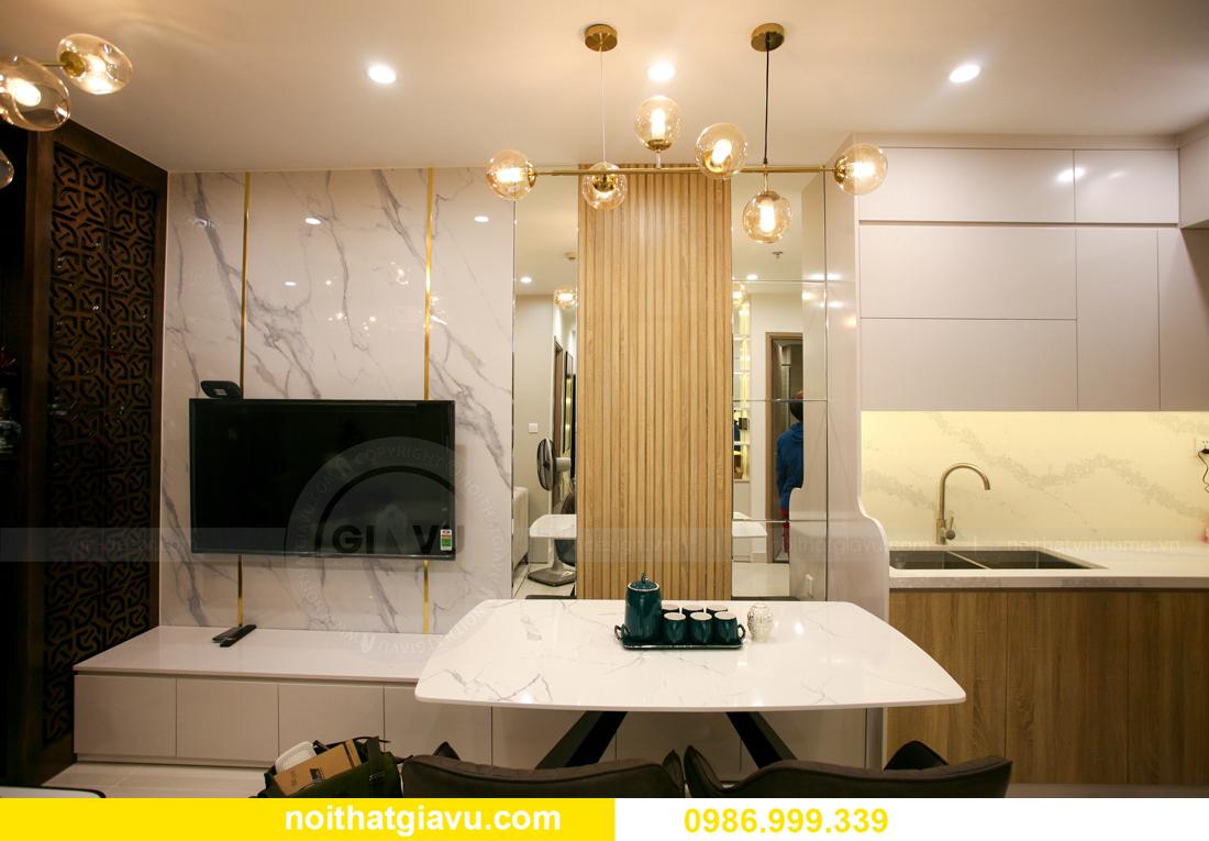 thi công nội thất căn hộ Vinhomes Smart City nhà anh Hòa 2