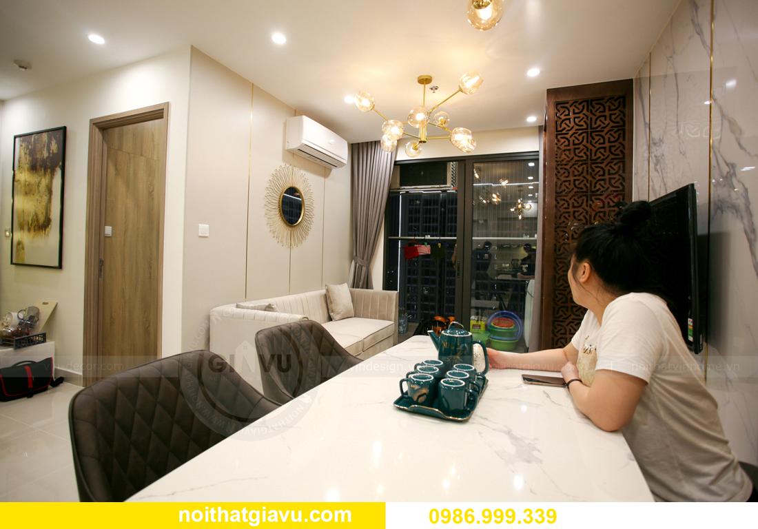 thi công nội thất căn hộ Vinhomes Smart City nhà anh Hòa 4
