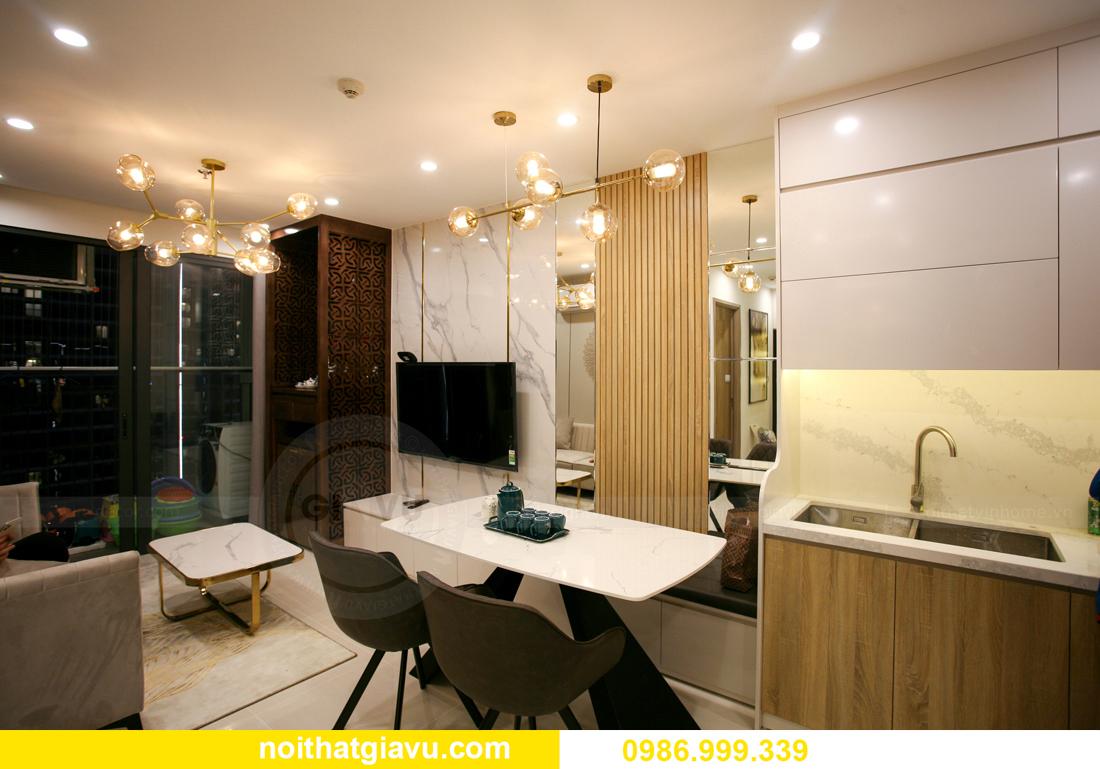 thi công nội thất căn hộ Vinhomes Smart City nhà anh Hòa 5