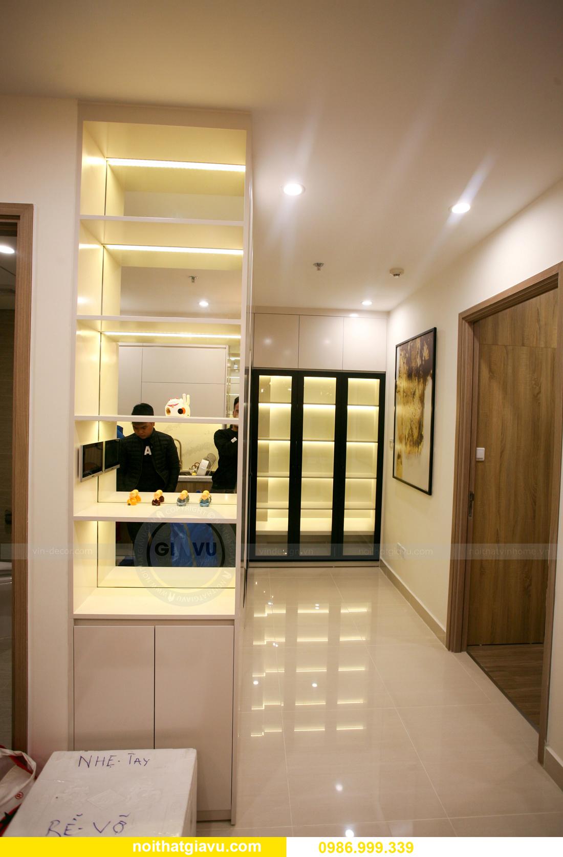 thi công nội thất căn hộ Vinhomes Smart City nhà anh Hòa 8