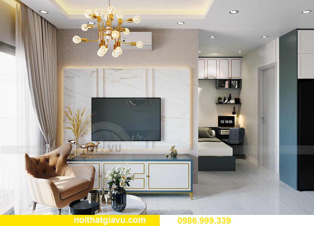 thiết kế thi công nội thất căn hộ Smart City tòa S201 căn 18 4