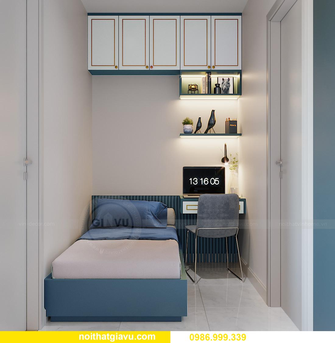 thiết kế thi công nội thất căn hộ Smart City tòa S201 căn 18 5