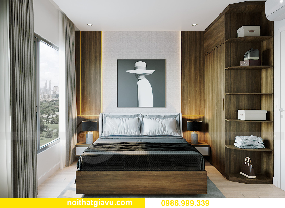 thiết kế thi công nội thất căn hộ Smart City tòa S201 căn 18 7