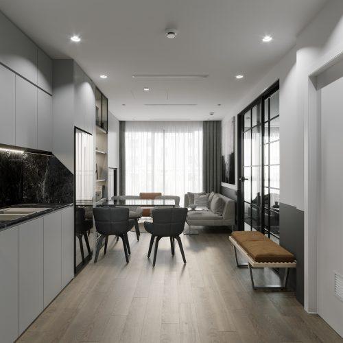 Thiết kế nội thất căn hộ 43m2 tại chung cư Vinhomes Smart City