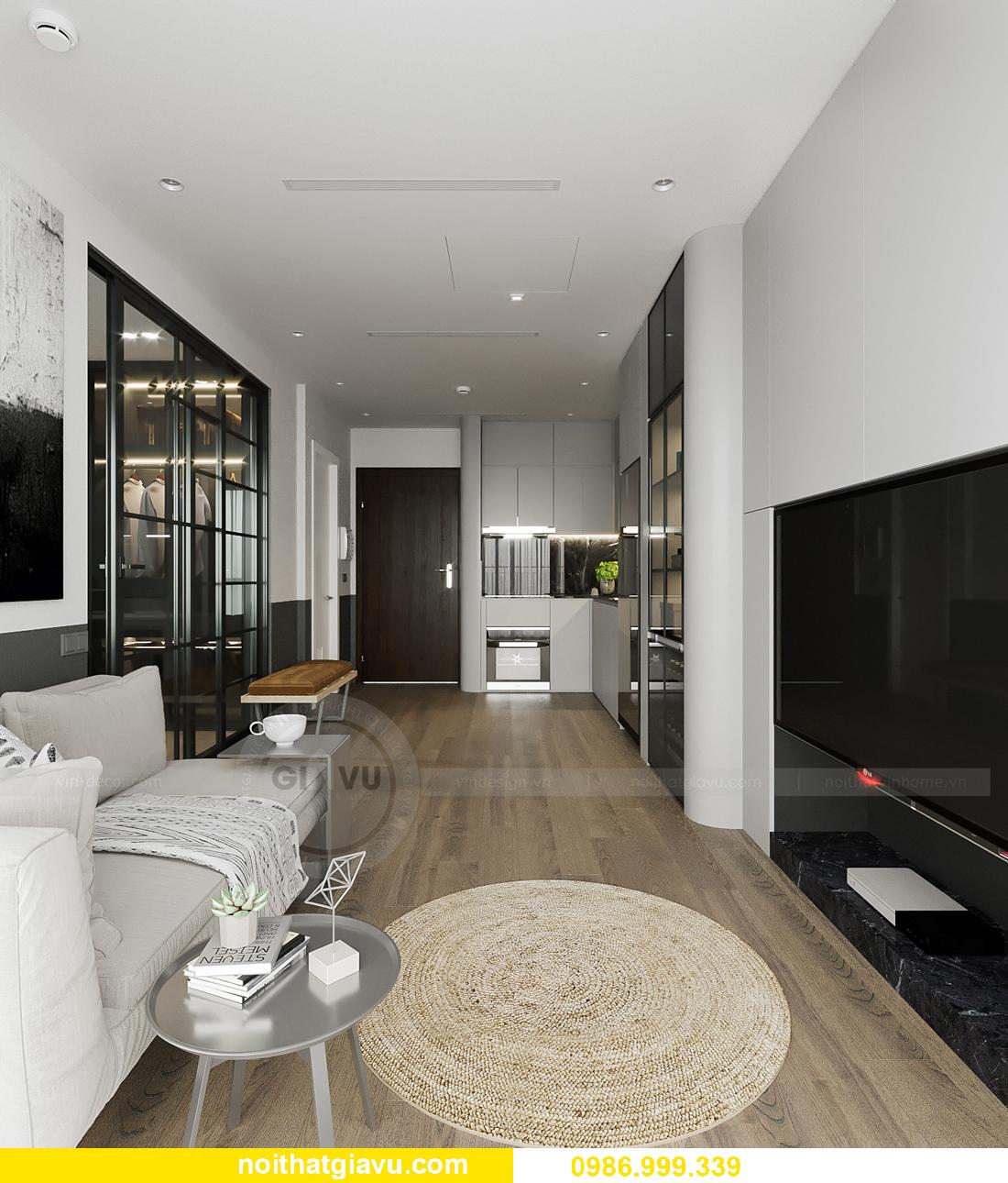 thiết kế nội thất căn hộ 43m2 tại chung cư Vinhomes Smart City 6